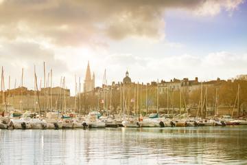 Marina in Downton of La Rochelle, west France