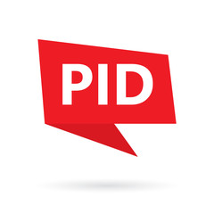 PID (Pelvic inflammatory disease) acronym on a speach bubble- vector illustration