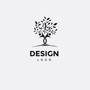 Vector logo design, tree icon