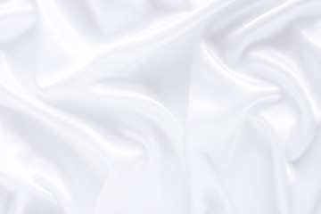 White cloth background abstract with soft waves.