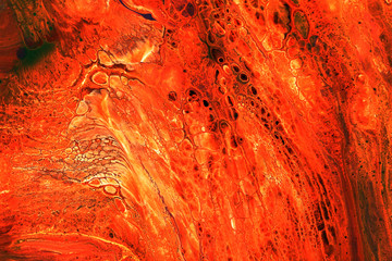 Abstract picture of orange paints
