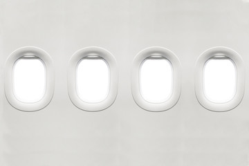 Poster Avion à Moteur Isolated airplane window