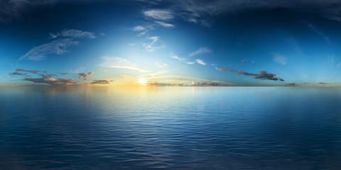 der weite ozean bei sonnenaufgang vr 360°