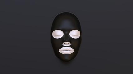 Black Sheet mask 3D Render