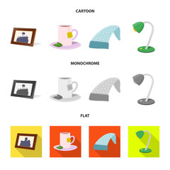 Vector design of dreams and night symbol. Collection of dreams and bedroom vector icon for stock.