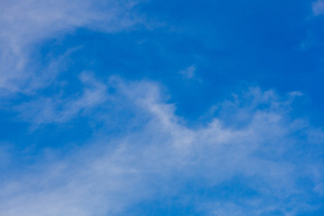 white clouds in the blue sky, clear weather, Sunny day. for the background, design, copy space