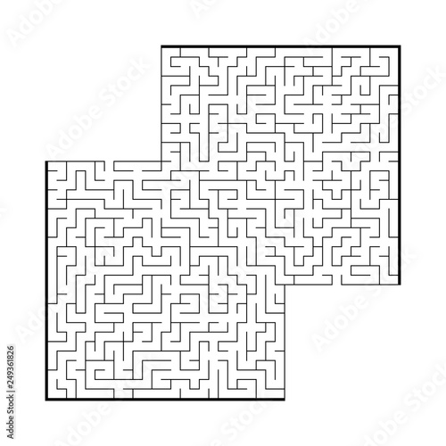 Difficult large square maze  Game for kids and adults  Puzzle for