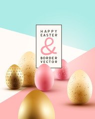 Pastel Easter Egg background Composition