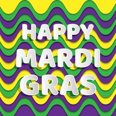 happy mardi gras for banner design. Vector template. Celebration decorate. Vector background. Banner template. Lettering typography. Holiday flyer banner background. Celebration & party.