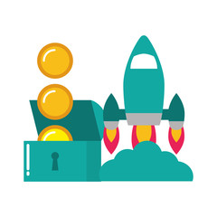 rocket chest coins video game