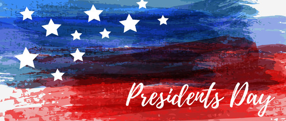 USA Presidents Day holiday background