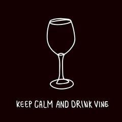 funny vine glass poster design