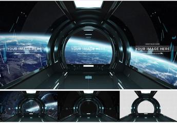 Rounded Spaceship Window Mockup