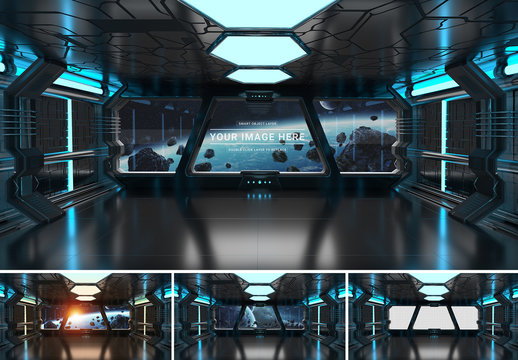 Spaceship Window Mockup
