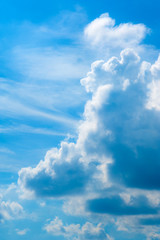 Dynamic sky and clouds with copy space. Abstract wallpaper