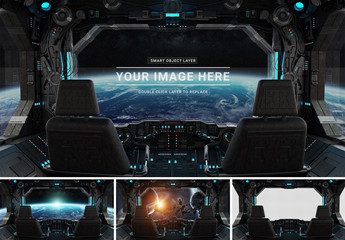 Spaceship Control Console Mockup