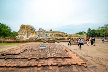 Wat Lokayasutharam Temple in Ayutthaya, Thailand