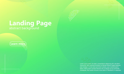 Website landing page. Geometric background.