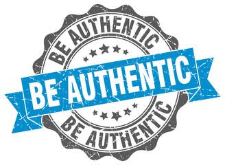 Fototapeta be authentic stamp. sign. seal obraz
