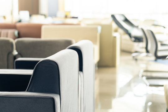 Modern style chairs sell in the secondhand furniture warehouse outlet, lifestyle living room design object in showroom