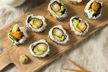 Homemade Shirmp Tempura Sushi Roll