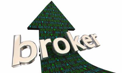 Broker Arrow Stock Market Trader 3d Illustration