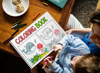 Coloring Book Education Talent Concept