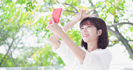 young woman take a selfie