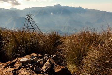 Landscape mountain view from Pico Três Estados (3 states border) summit