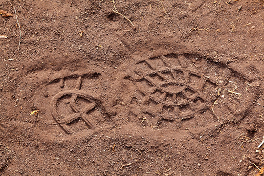 Footsteps on ground - pattern people marks