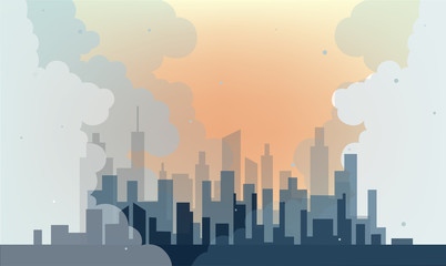 Big city and air pollution (micro dust pm2.5)