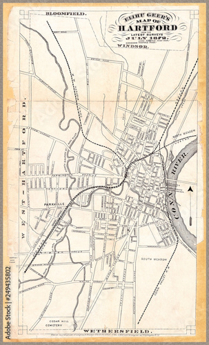 Map of Hartford 1872: Carefully restored reproduction of 1872 map of ...