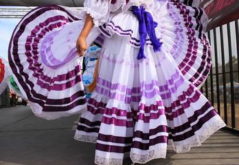 Pretty purple Mexican dress