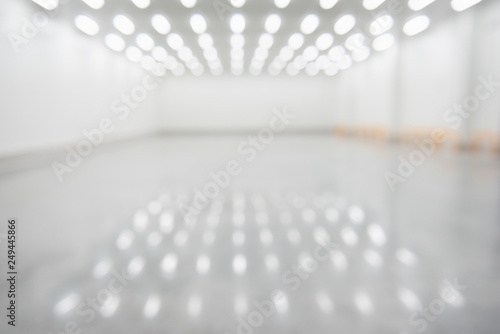 Blur image of New cold room storage for background