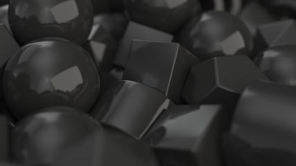 Pile of black primitives