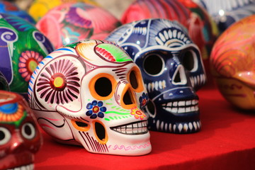 Sugar skulls display
