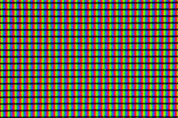 LED IPS monitor screen in extreme closeup macro magnification