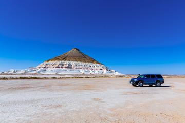 A stunning view of Bokty mountain, Bozzhira tract,  Mangystau, Kazakhstan