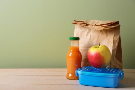 Tasty school lunch n table