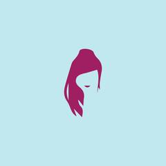 abstract face woman logo