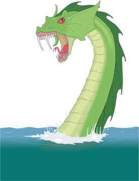 Sea Serpent Vector Illustration