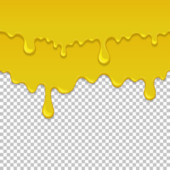 Yellow sticky liquid seamless element.