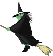 Witch Vector Cartoon Illustration