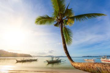 Sunny afternoon at Port Barton Beach, Palawan