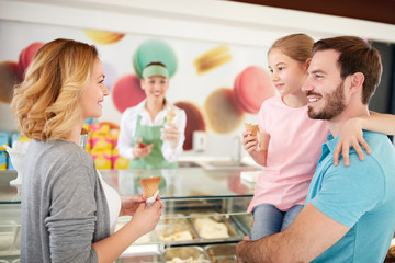 Family in confectionery
