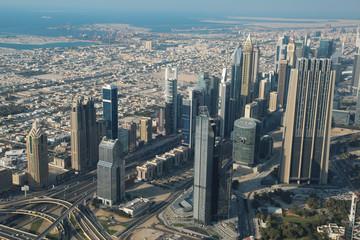 Printed roller blinds Dubai View on Dubai downtown, United Arab Emirates