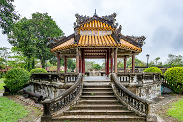 Hue - Vietnam. December 08, 2015. Imperial Enclosure Top choice historic site in Hue, Vietnam.