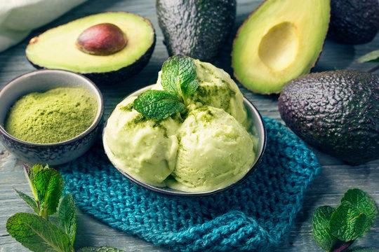 Vegan Avacado Ice Cream
