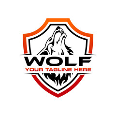 wolf logo design template