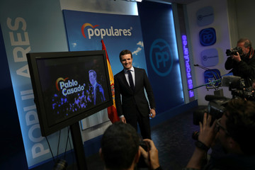 Spain's main opposition leader Casado holds a news conference in Madrid